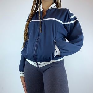 Vintage Christian Dior Navy Blue Bomber Jacket